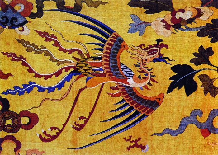 凤凰民族风刺绣图案
