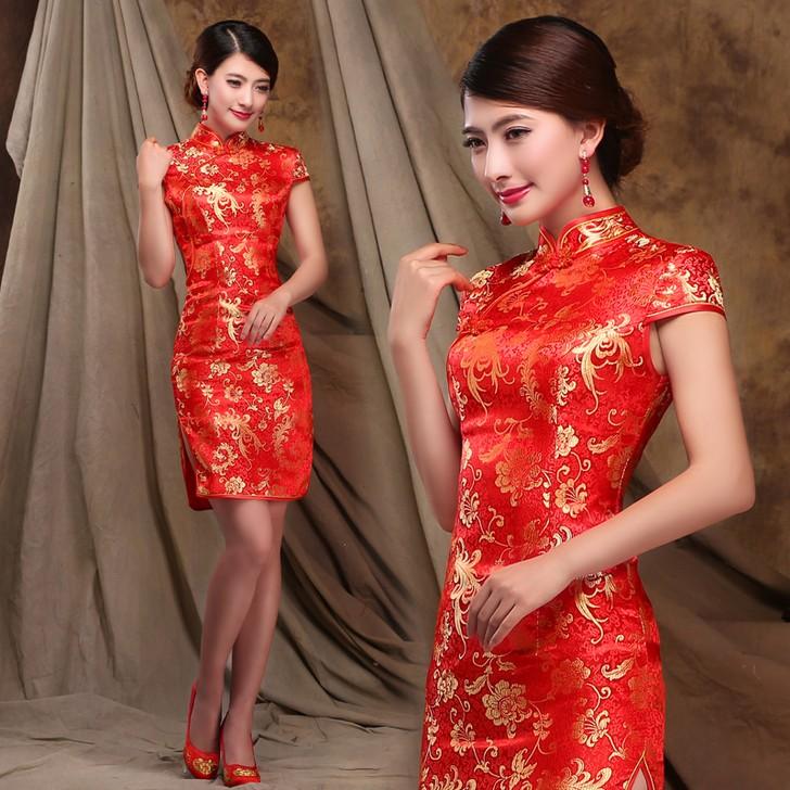 新娘装旗袍绣花加工