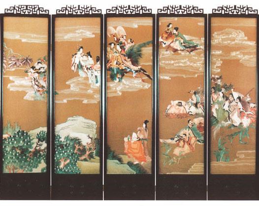 中国屏风工艺刺绣加工