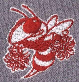 蜜蜂卡通动物绣花图案9530针